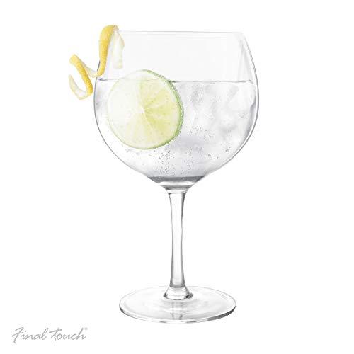 Final Touch Copa De Balon Gin & Tonic - Vaso de cóctel (800 ml, tamaño grande), diseño de globo G&T