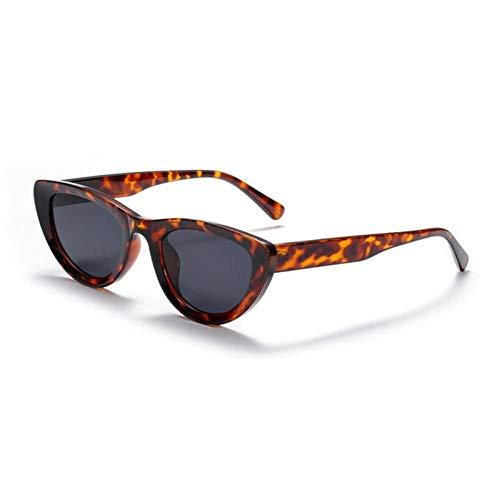 ZZOW Gafas De Sol De Ojo De Gato Pequeñas Vintage para Mujer, Gafas De Leopardo Rosa Rojo A La Moda para Hombre, Gafas De Sol Uv400