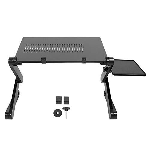 Germerse Mesa de Regazo Plegable, con Soporte para ratón, Escritorio para computadora portátil, Mesa para computadora, para Silla Cama(Black)