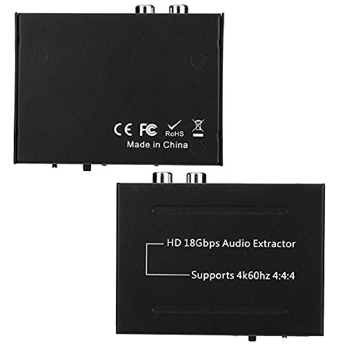 Extractor de audio Salida de extractor de audio HDMI Soporte de audio para computadora(Transl, Normativa europea)