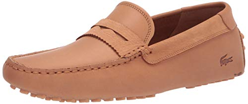 Lacoste Men's Concourse Craft Loafers Driving Style, TAN/TAN, 10