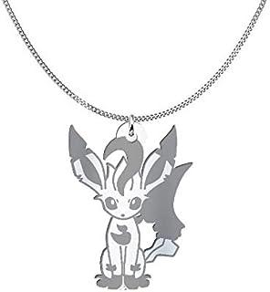 Collana Leafeon Pokémon, Sterling Silver o placcato oro 18K, gioiello regalo amicizia, migliori amici