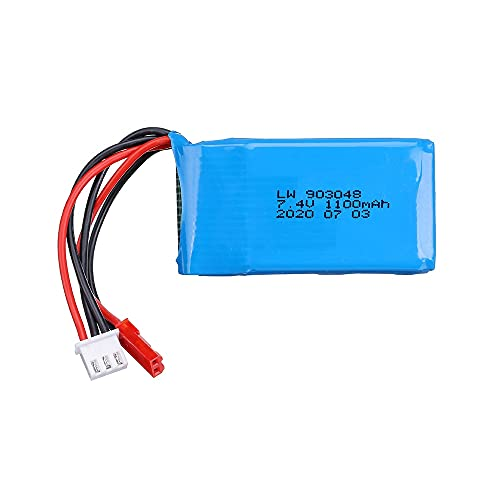 7,4 V 1100 mAh 25C Li-Po batería para WLtoys A949 A959 A969 A979 V912 V913 V353 k929 V262 L959 T23 T55 Piezas de batería de Coche 4pcs