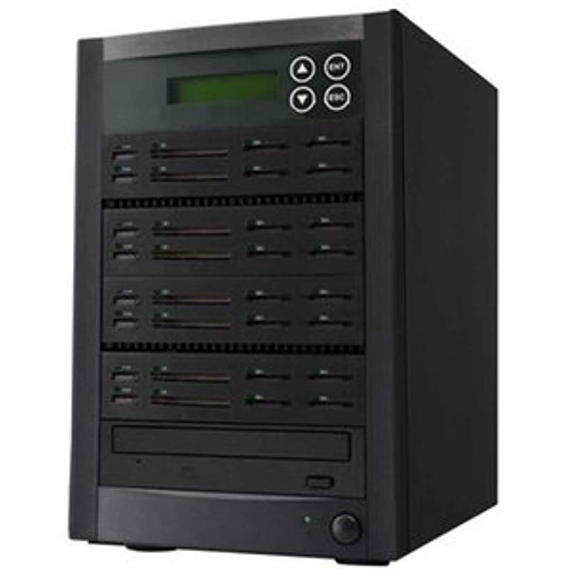 アクチュエータ集めるうんFASHメモリDuplicator : flashmatrix All - in - One 28ポートUSB、CF、SD、SDHC、MMC、MSフラッシュメモリDuplicatorとフラッシュにCD / DVDアーカイブデバイス