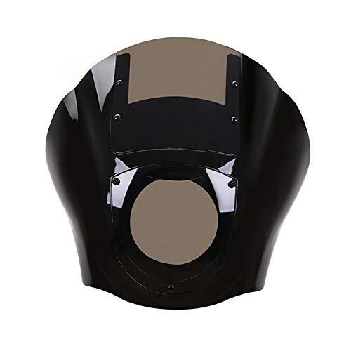 CHUDAN Motorrad Scheinwerfer Verkleidung/Windschutzscheibe Lampenschutzgitter Motorrad-Zubehör Scheinwerferschutz Für Harley Sportster XL 1200 883 XL883N Dyna FXR 1986-2017,Braun