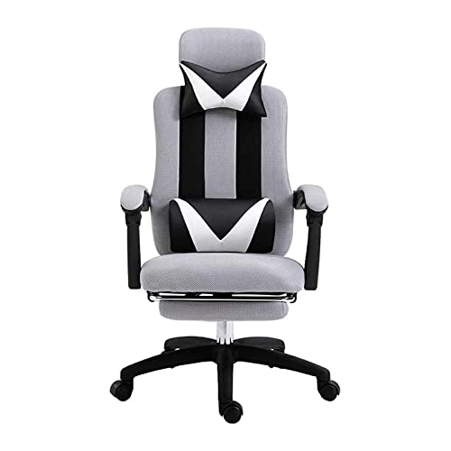 BGJK Silla de juego, escritorio y silla de oficina en casa, escritorio de tareas de oficina y silla, silla cómoda de la familia giratoria, silla de oficina ergonómica