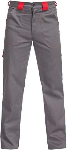 BWOLF ARES 100% Baumwolle Arbeitshosen Männer Arbeitshose Herren (Grau, L)