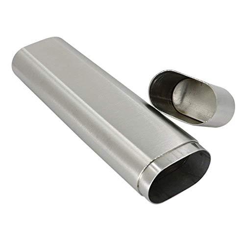 Portable Stainless Steel 2 Cigar Tube Holder Cigar case,Men's Best Gift