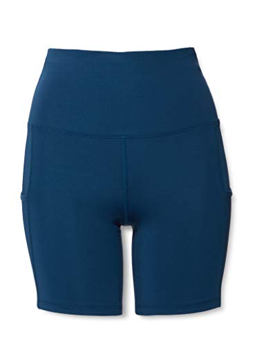 Marca Amazon - AURIQUE Shorts de Deporte Mujer, Azul (Gibralter Sea)., 38, Label:S