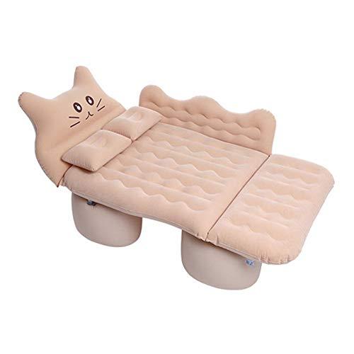 Auto aufblasbare Reiseluftmatratze Bett, Rücksitz Schlafunterlage Premium +2 Kissen, tragbare Auto Matratze Universal für Auto SUV MPV