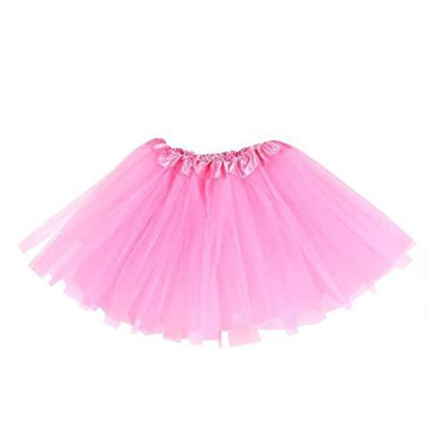 MUNDDY® - Tutu Elastico Tul 3 Capas 30 CM de Longitud para niña Bebe Distintas Colores Falda Disfraz Ballet (Rosa)