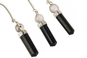 3cuarzo negro turmalina Gemstone colgantes joyería moda hombres mujeres regalo energía curación radiestesia bola de cristal punto Meditación Chakra Balancing nueva edad
