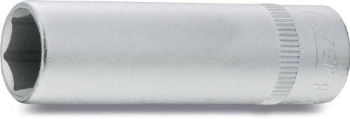 Hazet 850LG-8 Douille carré creux 6,3 mm/profil traction à 6 pans extérieurs Taille 8 longueur 50 mm