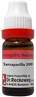 Dr. Reckeweg Sarsaparilla 200 CH (11ml) - Pack Of 1 Bottle & (Free St. George's ASMA MIX - An Ideal Remedy for Breathing D...