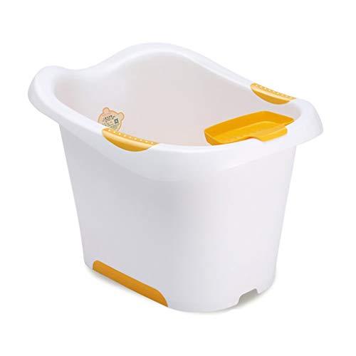 L@LILI Baignoire pour bébé Multifonctionnel Portable en Plastique de ménage 0-15 Ans Baignoire pour bébé Confortable Porter /,b