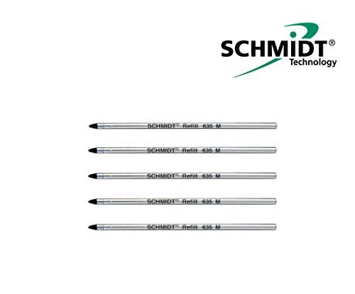 5x Schmidt Mine 635 M Bleu D1 Recharge Mine Stylo