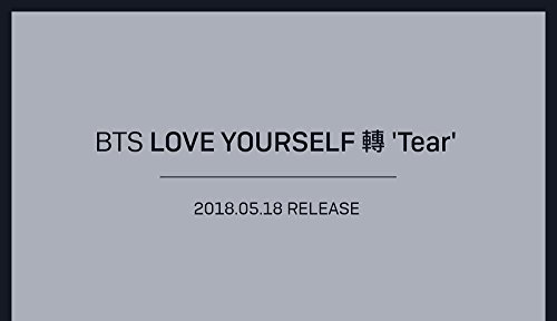 BigHit BTS - LOVE YOURSELF 轉 Tear [R ver.] (Vol.3) CD+Photobook+Mini Book+Photocard+Standing Photo+Folded Poster+Extra Photo 10pcs+Kpop Mask