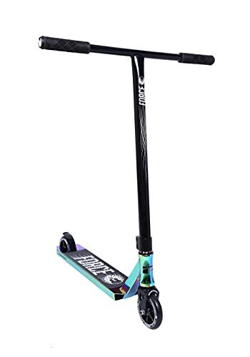 Phoenix Force Pro Scooter - Beginner Intermediate Stunt Trick Scooter - 110mm Alloy Core Wheels - Freestyle Kick Scooter for Kids Teens Adults (Oil Slick Black)
