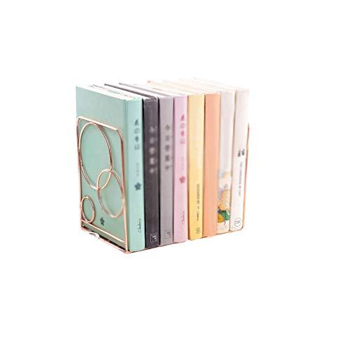 Xegood Organizador de Escritorio Oro/Oro Rosa Arte Ujetalibros Sujeta Libros Hierro Clasificación Sujetalibros Libros Estantería de Almacenamiento de Escritorio Oro Rosa Water Drops