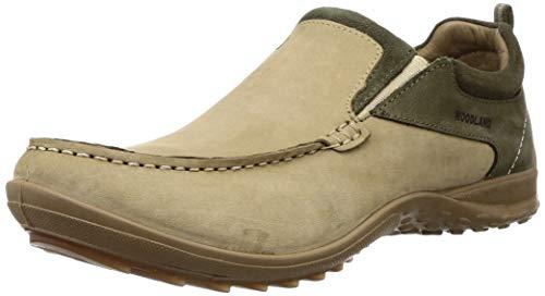 Woodland Men's 3317119 Khaki Leather Moccasin-8 UK (42 EU) (9 US) (OGC 3317119KHAKI)