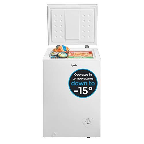 Igenix IG100 Freestanding Chest Freezer, 100 Litre Capacity with Freezer...