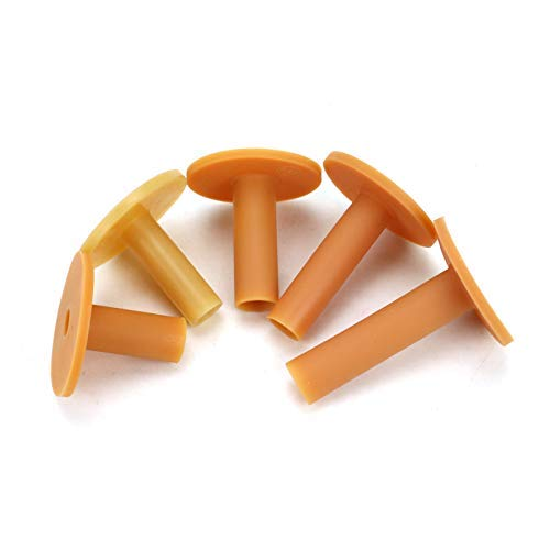 AQUEENLY 5 Pcs Rubber Golf Tee Holder for Practice and Driving Range Mats with Sizes of 1.57', 1.96', 2.16', 2.55', 2.95'