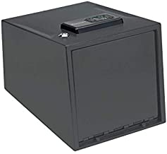 Hornady 2 Handgun Vault Safe with Keypad Entry – Secure Your Firearms and Valuables – 4-6 Keypad Entry, Interior Light and Backup Keys – Black, 12.7 (H) x 9 (W) x 8.8 (D) Inches – Item 95430