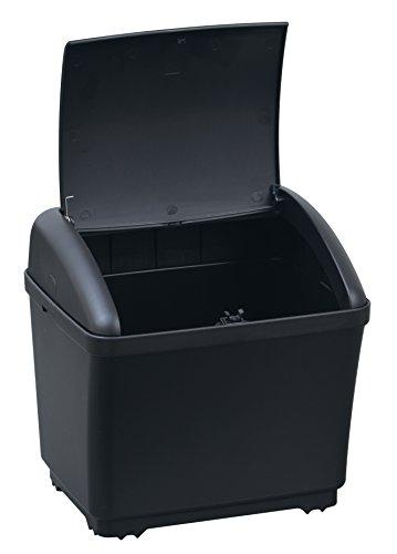 セイワ(SEIWA)車用ゴミ箱ダストボックスSカーボンブラック×カーボンシボW911