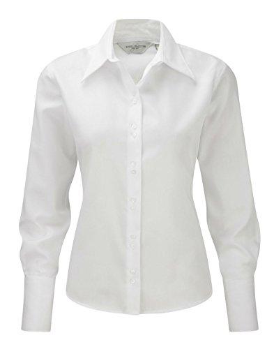 Russell Workwear Damen Bluse, lange Ärmel, bügelfrei Gr. M, weiß