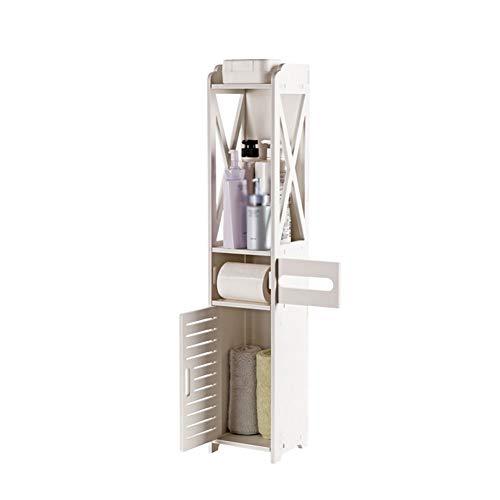 ZW-household Hochschrank für Bad Badregal vielseitig einsetzbares Badregal Badezimmerschrank Badregal Kommode Eckschrank Eckkommode Badmöbel