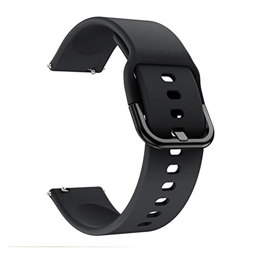 Banda de Silicona Suave de 20 mm para Huawei GT 2 42mm Smart Watch Pulsera Deportiva para Honor Magic 2 42mm Accesorios de la Correa de la muñeca (Color : Black)