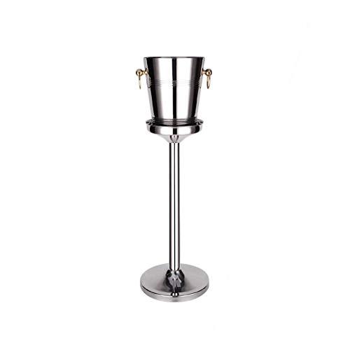 Cubo De Hielo Stand, Acero Inoxidable Cubo De Hielo Enfriador Retirable Canastilla De Champán No Es Fácil De Oxidar para Bar Banquete KTV Comercial (Color : Gold-a, tamaño : S)