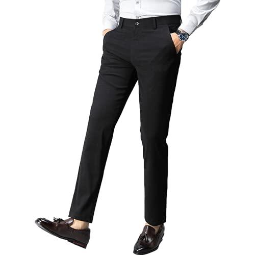 Pantalones Formales para Hombre Pantalones Casuales Delgados de Negocios Finos de Verano Pantalones Casuales...