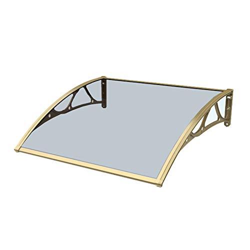 Door Canopy Tinted Curved Window Outdoor Cover Door Window Garden Canopy, 2.5mm Thickness Polycarbonate UV Protection For Garden Porch Window Garage