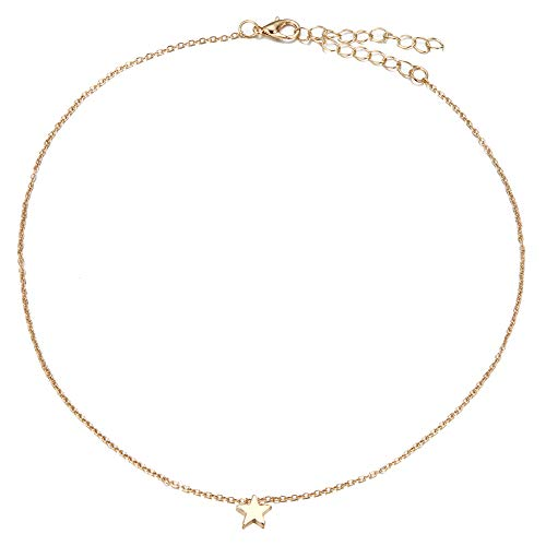 Necklace for Women, Fashion Star Charm Pendant Alloy Chain Necklaces Wedding Party Jewelry Gift - Golden