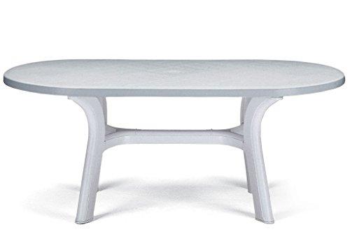 Table Pagoda ovale blanche 180 x 90 cm
