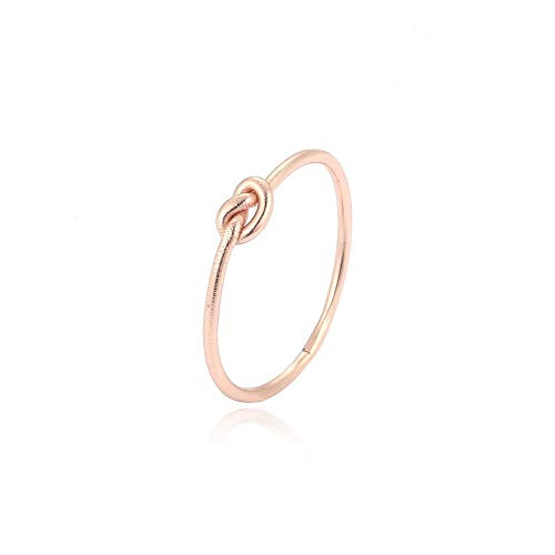 Silvery Ring Knoten -Silber 925 - Verschiedene Farbe - Silber - Gold - Rosegold RingSize 58 (18.5), Farbe Rosegold