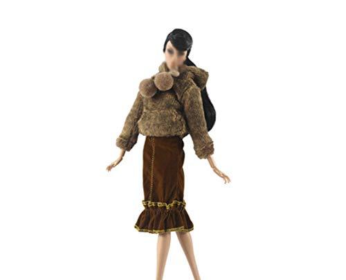 Maya Star Idea de regalo para nia Noble Queen Princesa Vestir fiesta falda vestido de noche para mueca de 11.8 pulgadas