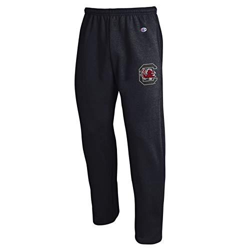 Champion NCAA South Carolina Fighting Gamecocks Eco Powerblend Open Bottom Pant, 2X-Large, Black