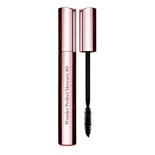 Clarins Wonder Perfect 4D - Máscara, 01 Perfect Black, 8 ml