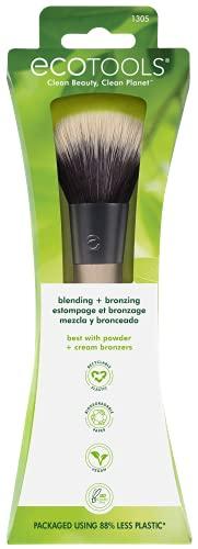 EcoTools Bronzer Brush, Blend & Set Blush, Powder, Highlighter, & Bronzer