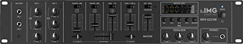 IMG STAGELINE MPX-622/SW Stereo-Audio-Mischpult speziell für den ELA- und DJ-Bereich