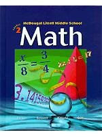 Mcdougal Littell Middle School Math, Course 2, Teacher's Edition 0618508198 Book Cover