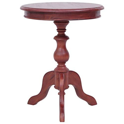 Tidyard Beistelltisch Kaffeetisch Sofatisch Couchtisch Tisch 50 x 50 x 65 cm, Telefontisch Pflanzentisch Blumentisch Holztisch aus Mahagoni-Massivholz mit braunem Finish für Wohnzimmer, Schlafzimmer