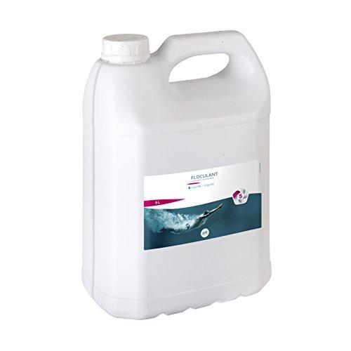 Gre 76010 Floculant Liquide 5L, Blanc, 19 x 13 x 30 cm