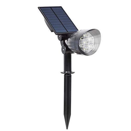 CKQ-KQ Buitenverlichting 7 LED Solar Spotlights, Super Bright Veiligheid Landschap van de Tuin Lampen, Tuin Light Wall lamp Solar gazon licht, aan/uit, waterdichte draadloze Muurlampen for Patio, Bo