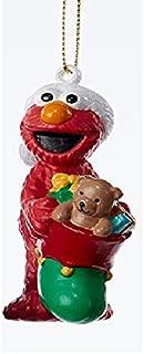 "Kurt Adler 3.25"" Sesame Street Elmo Blow Mold Decorative Christmas Ornament"
