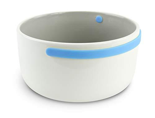 COOKUT PR15BC Bol avec Anse Céramique/Silicone Bleu 15 cm