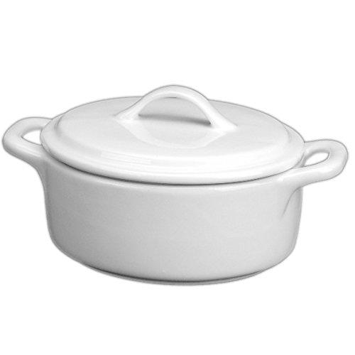 Holst Porzellan COC 213 Cocotte/Kokotte/Topf mit Deckel 2,9 l, weiß, 23.5 x 21.5 x 16 cm