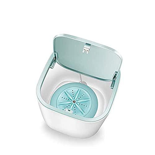 ZHIRCEKE Tragbare Mini-Waschmaschine, 3,8 l Super Shock Wave Turbine Waschmaschine Haushalt für Unterwäsche Baby Kleidung110-220V
